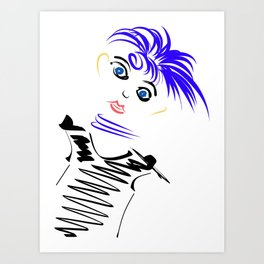 Funky female Art Print
