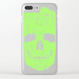 Acid skull  toxic gr Clear iPhone Case