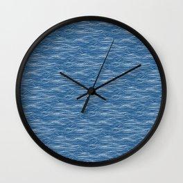 Waves - classic blue Wall Clock