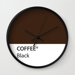 Coffee Black True Color Artwork for Coffee Lovers Wall Clock