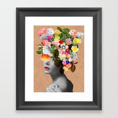 Mary Floral Framed Art Print
