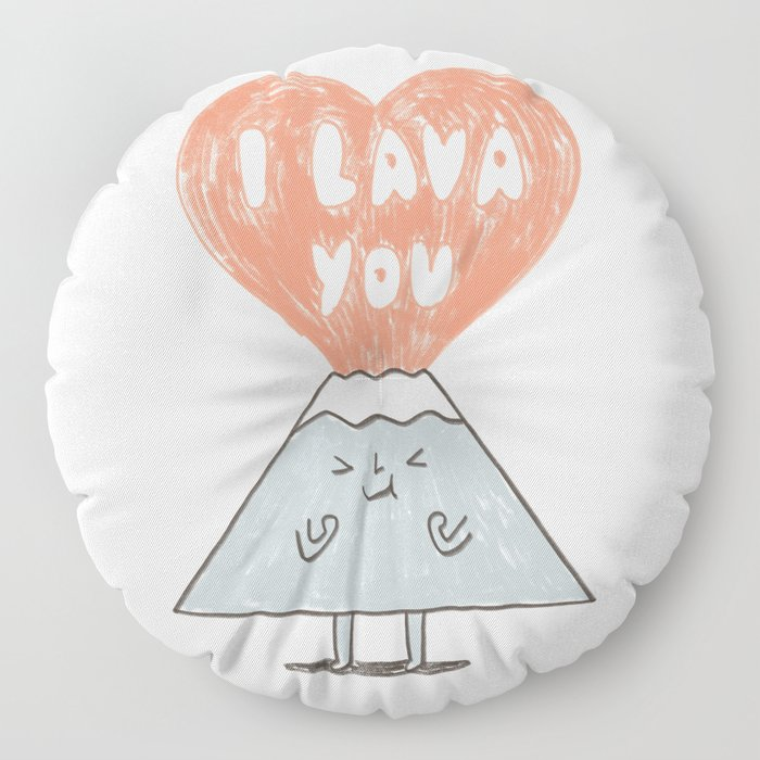 I Lava You 2 Floor Pillow