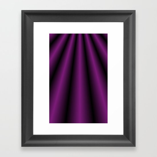 Purple Satin Gown Framed Art Print