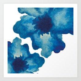 Two blues Art Print