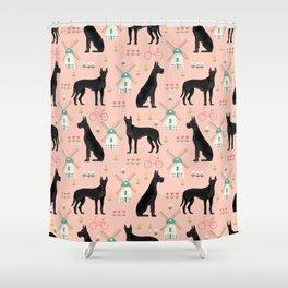 Great Dane windmills cute custom pet portrait dog lover dog breeds great danes Shower Curtain