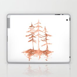 Three Sisters Trees Rose Gold on White Laptop & iPad Skin