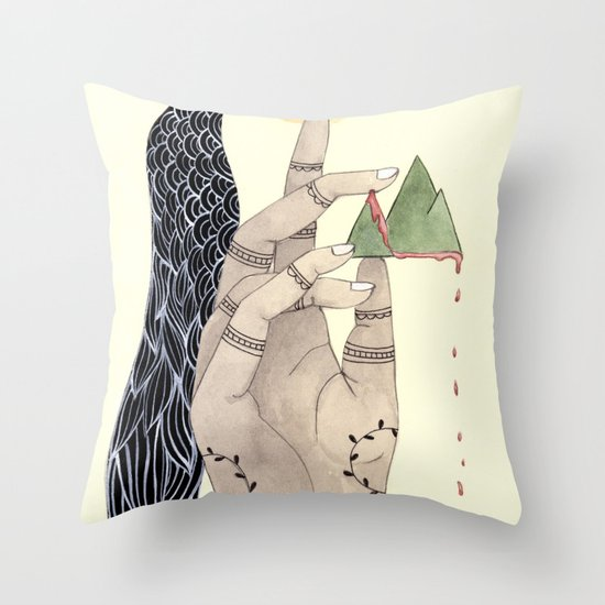 Hand to Home Throw Pillow