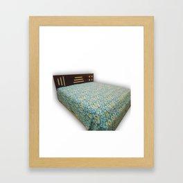 Handmade Ikat Kantha Blanket / Bed Cover Framed Art Print