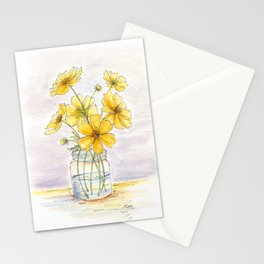 Yellow Cosmos, Still Life Stationery Cards