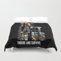 last of us Duvet Covers featuring The Last of Us by fardeen