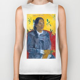 "Paul Gauguin ""Tahitian Woman with a Flower (Vahine no te tiare)"" Biker Tank"