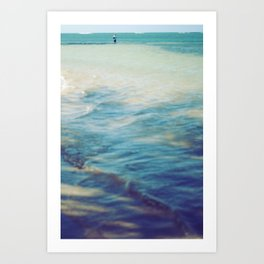 Fisherman in the distance, Mauritius II Art Print