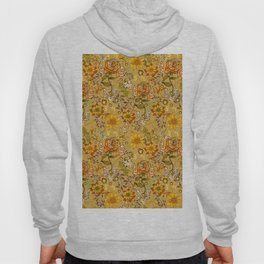 Rose vintage inpsired retro, warm colors 70s, boho Hoody
