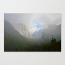 Fog Clearing at Yosemite Valley Canvas Print