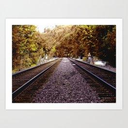Seattle Train Tracks Art Print