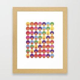 Afro Rainbows Framed Art Print