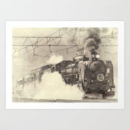 6120 Train Lithograph Art Print