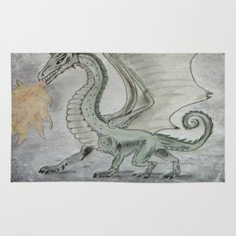 Fire Breathing Dragon Rug