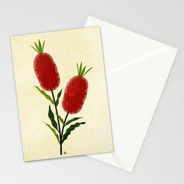 Australian Bottlebrush Red Flowers Stationery Cards