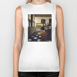 Johannes Vermeer  - The Music Lesson Biker Tank