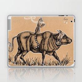 Teatime with waterbuffalo and genet Laptop & iPad Skin