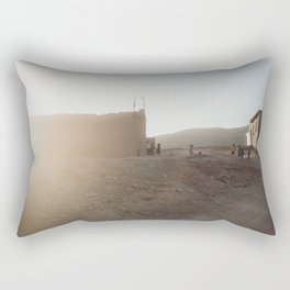 Moroccan children playing| Sunset in Atlas mountains| Travel photography| Wanderlust   Rectangular Pillow