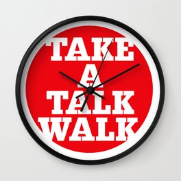 take a talk walk - RED Wall Clock