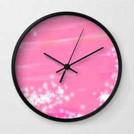 Pink Sparkles Wall Clock