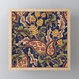 Beautiful Victorian Vintage Floral Pattern Framed Mini Art Print