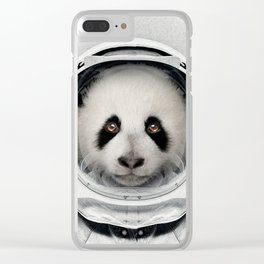 Panda Astro Bear Clear iPhone Case