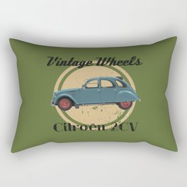 Vintage Wheels: Citroën 2CV Rectangular Pillow