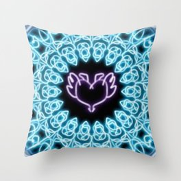 simetry heart 2 Throw Pillow