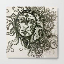 The Sun And The Moon Metal Print