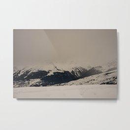 Mont Blanc vintage Metal Print