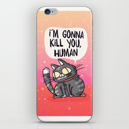 cat love iPhone Skin