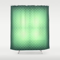 emerald Shower Curtains featuring emerald by cinefuck