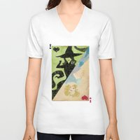wicked V-neck T-shirts featuring Wicked by Serena Rocca