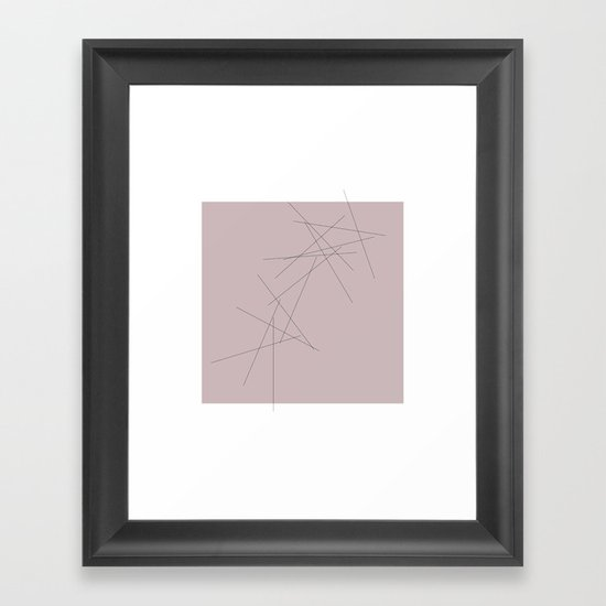 #29 Falling  – Geometry Daily Framed Art Print