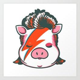 Piggy Stardust Art Print
