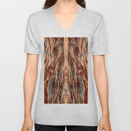 Abstract Textural Graphic-1 Unisex V-Neck