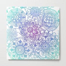 Pastel Mandala Pattern Metal Print
