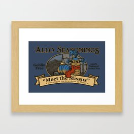Meet the Missus Tea Framed Art Print