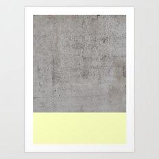 Yellow on Concrete Art Print