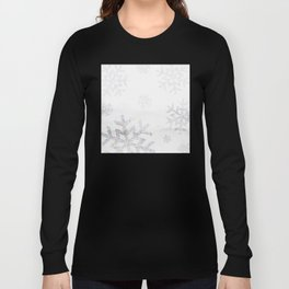 Snowflake Glitter Long Sleeve T-shirt