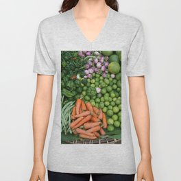 Asia vegetables on market #society6 #vegetables Unisex V-Neck