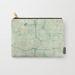 Atlanta Map Blue Vintage Carry-All Pouch