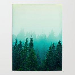 Fog Foggy Samish Forest Woods Mountain Northwest Washington Landscape Poster