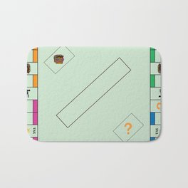 Monopoly Print Currency Game Bath Mat