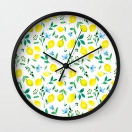 Lemon, lemons Wall Clock