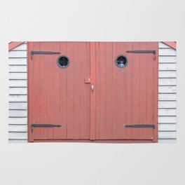 Red Port Hole Door Rug